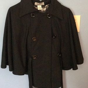 BLACK STEVE MADDEN Dress Coat! Medium